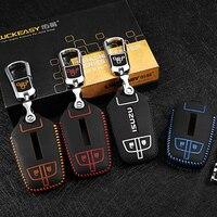 leather case for isuzu truck MU X D MAX 2017 2018 Car Key Cover wallet holder remote car key case key2p
