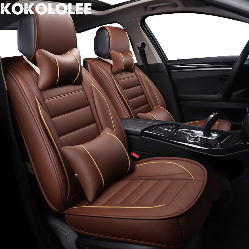 kokololee pu Leather Car Seat Cover for kodiaq hyundai accent lada 2107 toyota land cruiser prado 120 Auto Accessories car seats