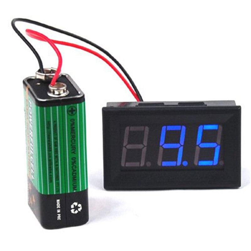LCD Digital DC 4.5V~30V Panel Detector Volt Meter Voltmeter Red Blue Green Color Tester Monitor Adapter Voltmeter Converters