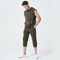 New arrival 2018 Sleeveless jacket men's suits 2 jackets + pants young set s 2xl suit European American size Summer dress