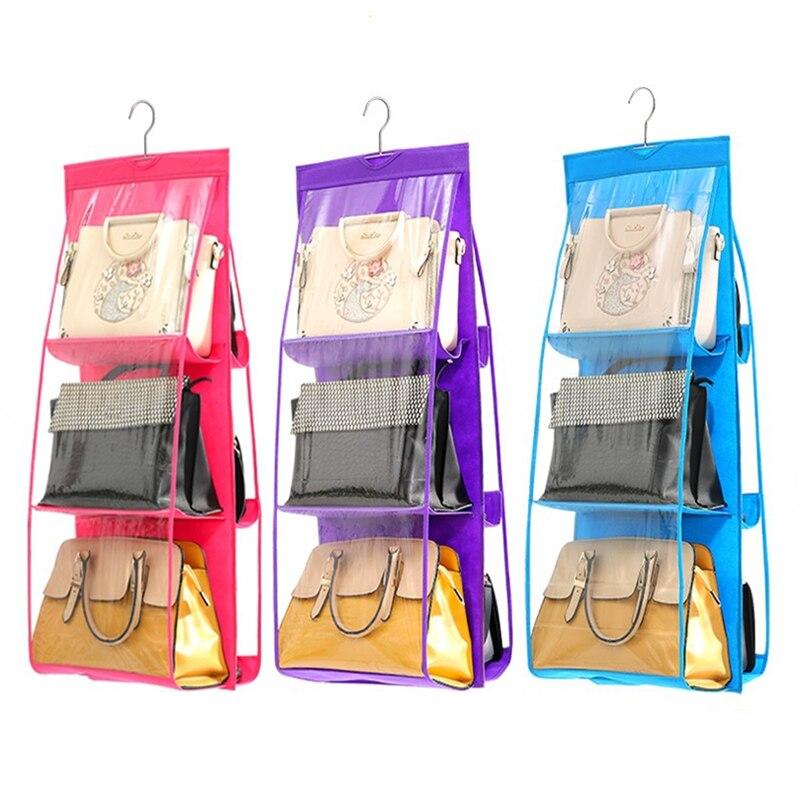 6 Pocket Handbag Storage Bags Hanging Family Organizer ...