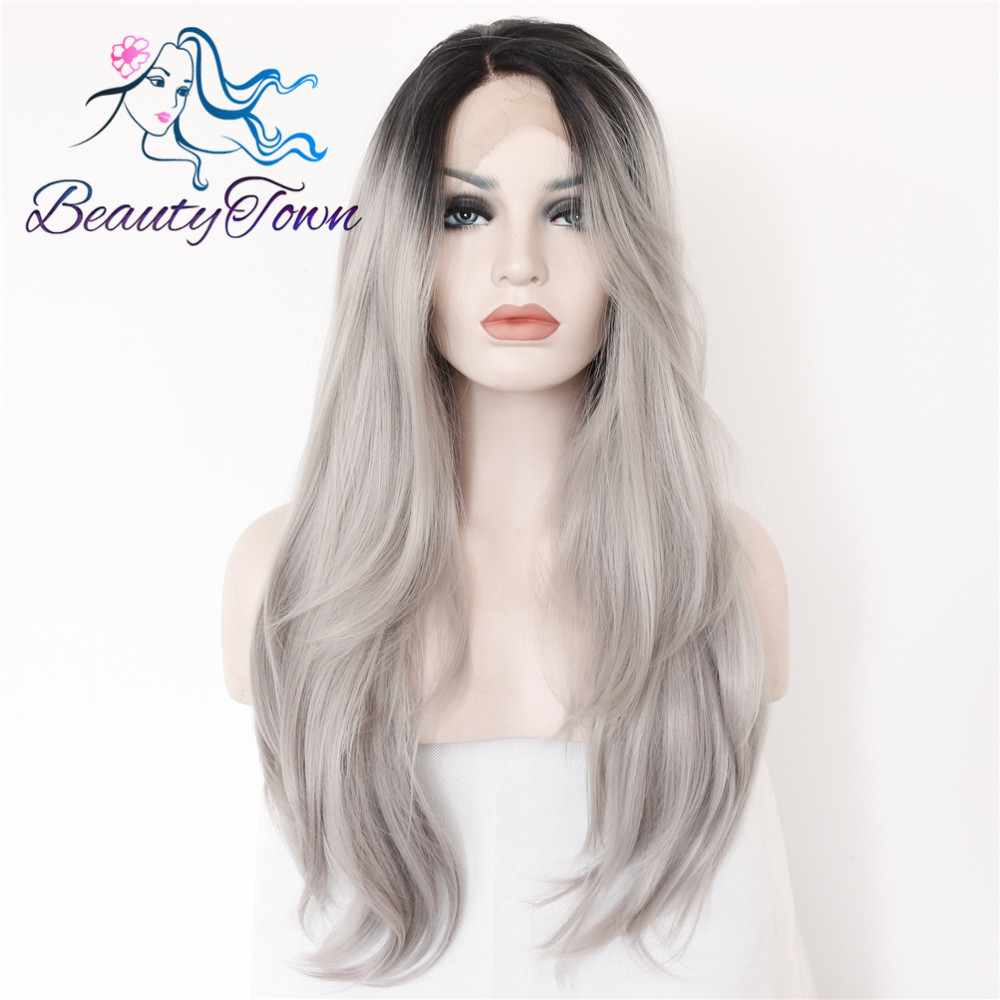 Bombshell Black Color Straight Heat Resistant Futura No Tangle Synthetic Lace Front Wigs With Baby Hair For Women Daily Makeup To Enjoy High Reputation In The International Market Hair Extensions & Wigs Lace Wigs