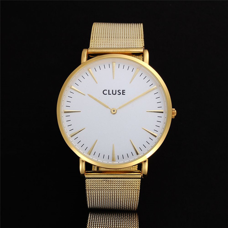 Bien-aimé Cluse Quartz Watch Men Women Top Brand Stainless Steel Watches  FA87