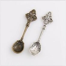 15pcs Tibetan silver / bronze tableware spoons jewelry pendant making charm