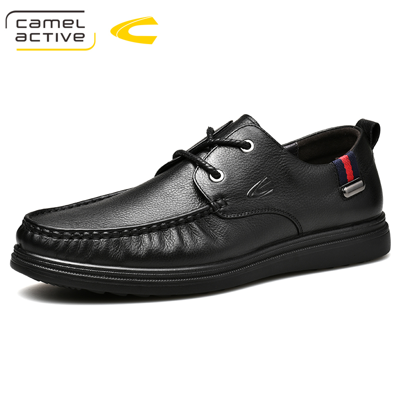 Camel Active New Genuine Leather Men casual shoes comfortable loafers Soft Leather Autumn Men's Handmade chaussure homme camel genuine autumn new men s british style minimalist pure color with a soft surface leather shoes a432073040