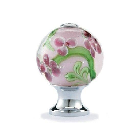 unlocks 10pcs decorative color flower vaidurya glass cabinet cupboard door knobsdiameter25mm - Decorative Door Knobs