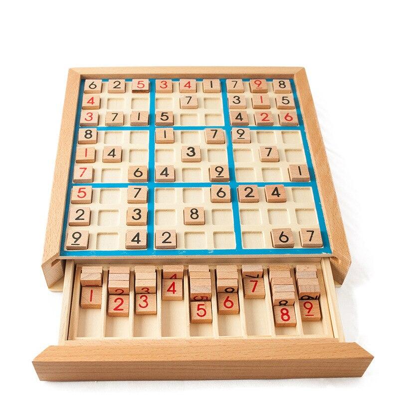 Jeux de Sudoku en bois adulte logique penser neuf palais Sudoku échecs enfants jeux de société éducation précoce Intelligent jeux de Table jouets