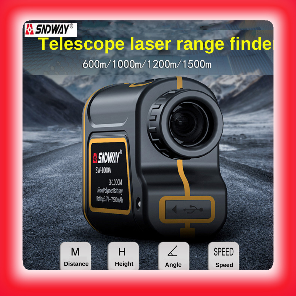 Free shipping 1000M telescope laser distance meter for hunting trena medidor digital measuring tape golf laser level rangefinder free shipping multifunctional laser levels w 550cm measuring tape 2 horizontal bubble lv05