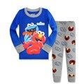 Novas Crianças Roupas Sesame Street Elmo Biscoito Traje Tudo para garoto Roupas E Acessórios do Menino Menina Esporte Terno Pijamas Casa desgaste