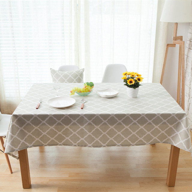 Wedding Party Tablecloths Rectangle Round Table Cloth Dinner Coffee Covers Grey Cotton Geometric Home Decoration tablecloth