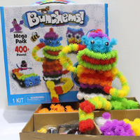 400pcs Educational Assembling 3D Puzzle Kits DIY Double Hook Bunched Puff Ball Creative Squeezed Handmade Puzzles