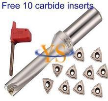 16mm x64mm depth 16-4D-C25-64L U drill indexable drill bit tool and 10pcs WCMX030208 carbide insert New