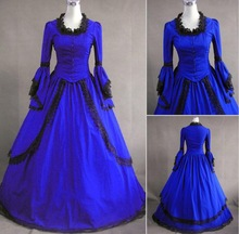 free pp Halloween Costumes for Women Adult Southern Victorian Dress Ball Gown Gothic Lolita Dress Plus Size Customized XS-3XL