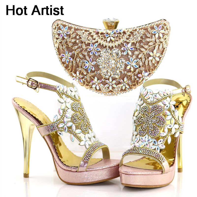 Hot Artist Latest Pink Color Italian Shoes And Bags To Match 2018 Hot Sale Nigerian Pumps Shoes And Bag Set For Party TX-64 hot artist nigeria style shoes and bags set for party in women italian rhinestone woman pumps shoes and bag set for party bl735c