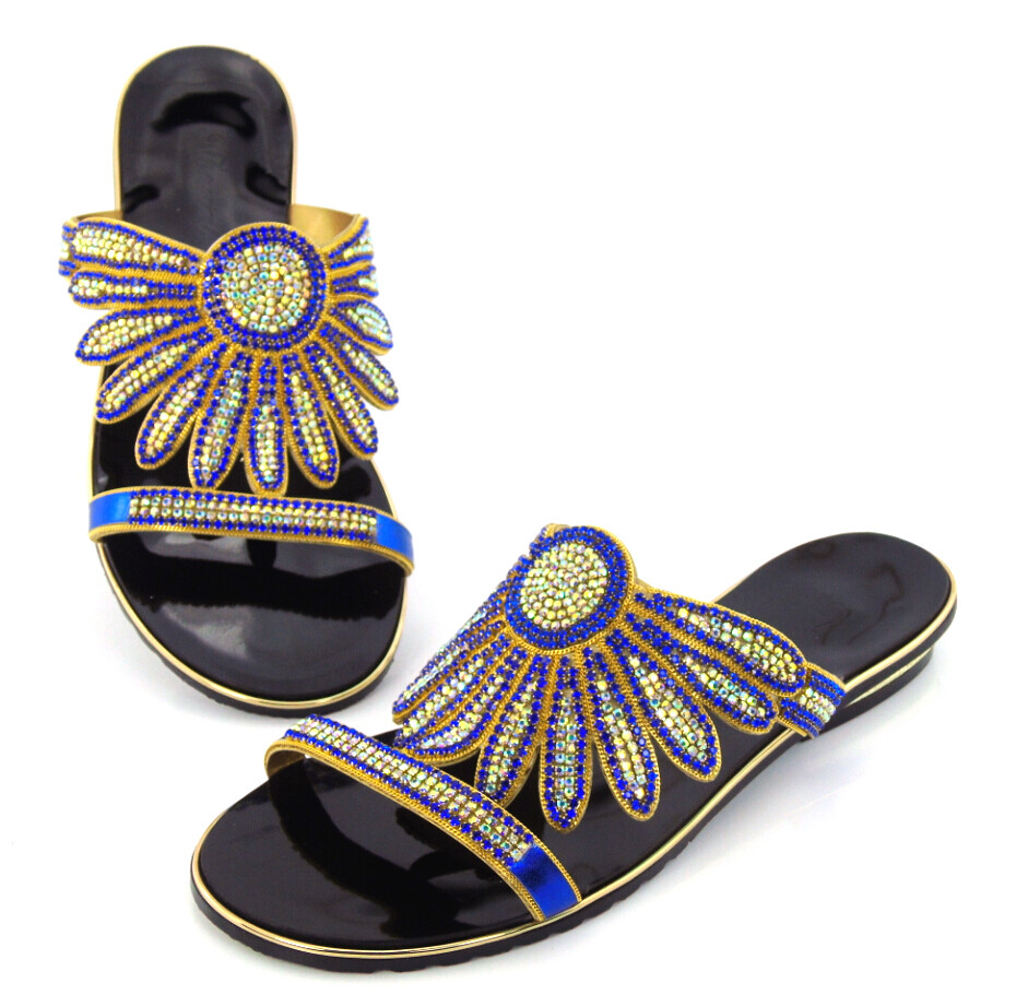 doershow 2016 Very fashion design Blue Noble European African Sandals Women DD1 55