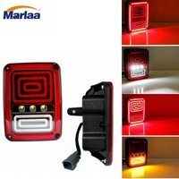 Marlaa 1 Pair Replacement Us European Version LED Tail Light Assembly For Jeep Wrangler Jk 2007