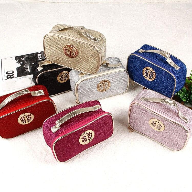 Fashion Women Travel Cosmetic Bag Paillette Zipper beauty Case Female Make up Bag Wash Kit Bags Makeup Organizer Storage Bag