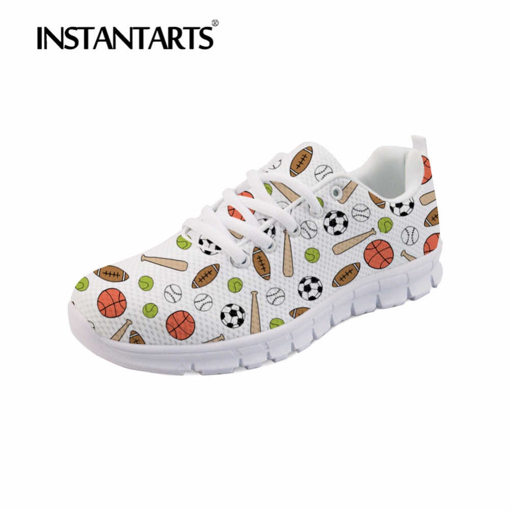Dentelle Chaussures Fille hk1099aq 3d Balle Instantarts hk1101baq Adolescent Up Casual Femmes hk5742aq Customaq hk1099baq hk1100baq Mesh Automne Low Appartements soccerly Imprimer Sneakers Footballly Lop HIaSI