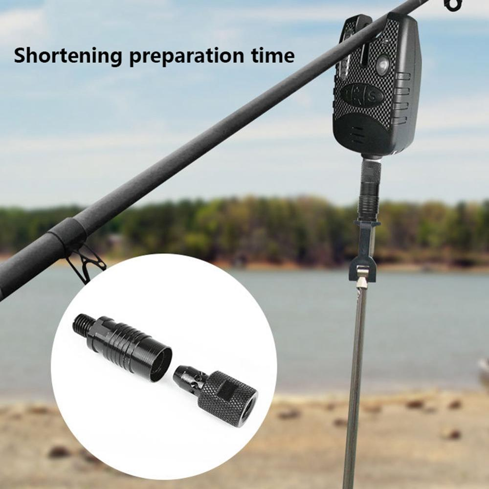 Fishing Adapter Metal Quick Release Rod Bite Connector Tackle Tools Alarm Holder