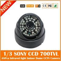 Home Security Dome Camera Effio E 1 3 SONY CCD 700TVL 3 6mm Lens With 48Pcs