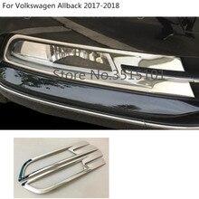 Auto testa frontale lampada della luce di nebbia telaio di copertura trim pannello 2 pz Per Il VW Volkswagen Passat B8 Berlina Variante Alltrack 2015 2016 2017 2018