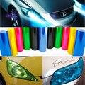 12 Colores 100 cm x 30 cm Auto Car Luz Trasera de la Linterna la Película de Niebla de la Alta Calidad del Vinilo del Tinte de Cine Hoja de etiquetas Etiqueta