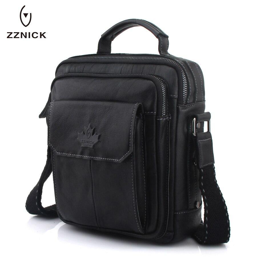 ZZNICK sacs à bandoulière en cuir véritable mode hommes sac Messenger petit ipad mâle fourre-tout Vintage nouveaux sacs à bandoulière sacs à main pour hommes