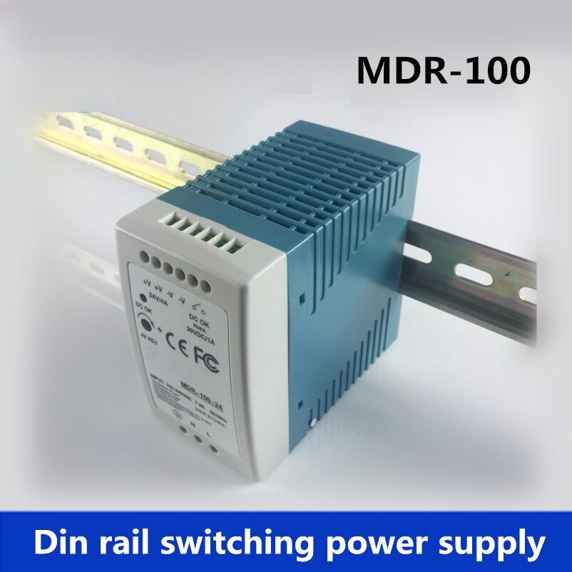 MDR-Din Rail di Alimentazione 100 W 12 V 7.5A, 24 V 4A Alimentazione Elettrica di Commutazione AC 110 v/220 v Trasformatore DC 12 v, ac dc convertitoreMDR-Din Rail di Alimentazione 100 W 12 V 7.5A, 24 V 4A Alimentazione Elettrica di Commutazione AC 110 v/220 v Trasformatore DC 12 v, ac dc convertitore