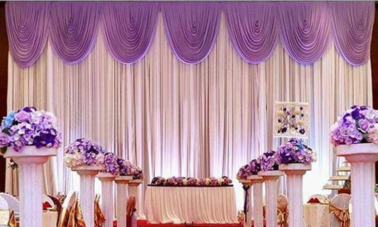 10ft20ft Light Purple Wedding Backdrop Drapes Curtain Wholesale