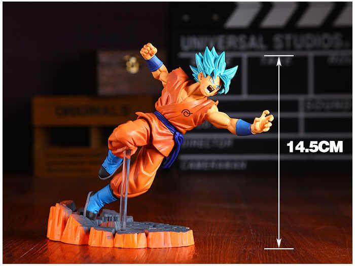 Anime dragon ball z goku fighers super saiyan príncipe vegeta manga troncos filho gokou gohan figura de ação modelo coleção brinquedo presente