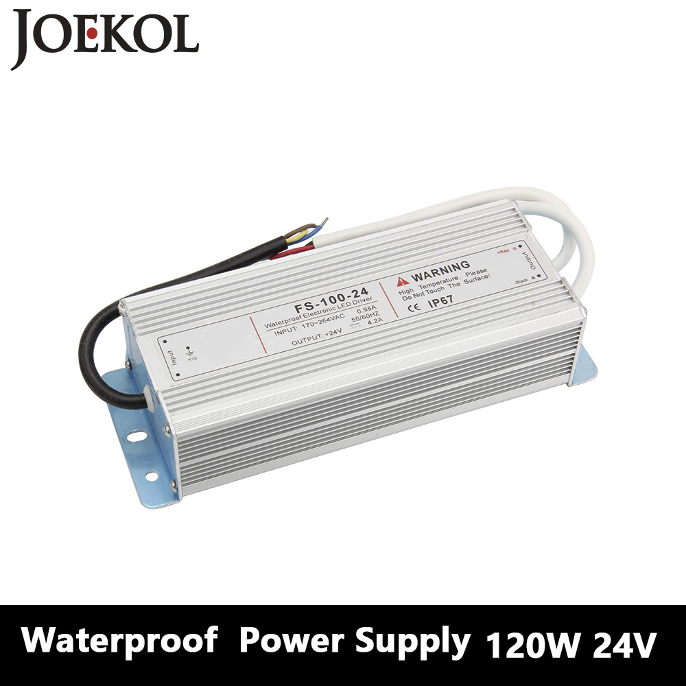 Led Driver Transformer Waterproof Switching Power Supply Adapter,,AC170-260V To DC24V 120W Waterproof Outdoor IP67 Led Strip