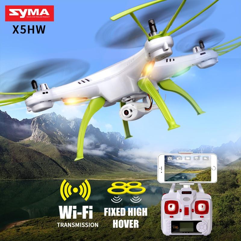 SYMA X5HW RC Quadrocopter Zangão Com Câmera Wi-fi FPV HD Real-tempo de Transmissão RC Drones Quadcopter Dron Helicóptero de Brinquedo pairar