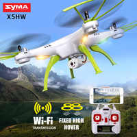 SYMA X5HW RC Quadrocopter Drone With Camera Wifi FPV HD Real-time Transmit RC Helicopter Quadcopter Dron Drones Toy Hover