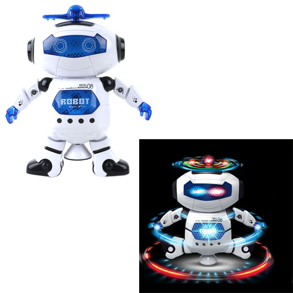 Electronic 360 Rotating Smart Space Dance Robot With Music Light Walking Toys For Kids Astronaut Toy Christmas Birthday Gift