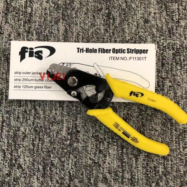 F11301T Miller клещи для зачистки волокон F11301T FIS Tri Hole волоконно оптический инструмент для зачистки проводов Miller Бесплатная доставка