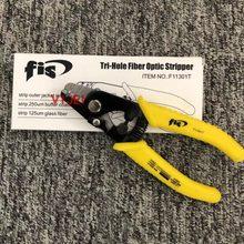 F11301t miller clamp fibra alicate de descascamento f11301t fis tri-hole fibra óptica stripper miller fio stripper frete grátis
