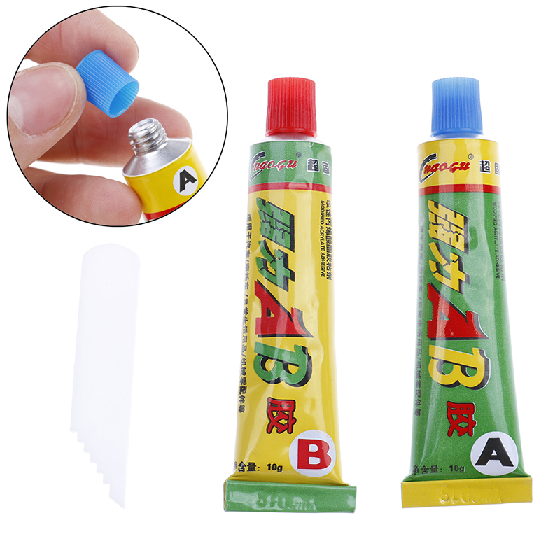 2Pcs Super Strong Epoxy Clear Glue Adhesive Resin Immediate Glue (A +B ) Craft