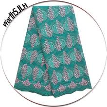 Aso Ebi African Voile Lace Fabric 2018 High Quality Orange Swiss Cotton Teal Green Big Nigeria Fabrics