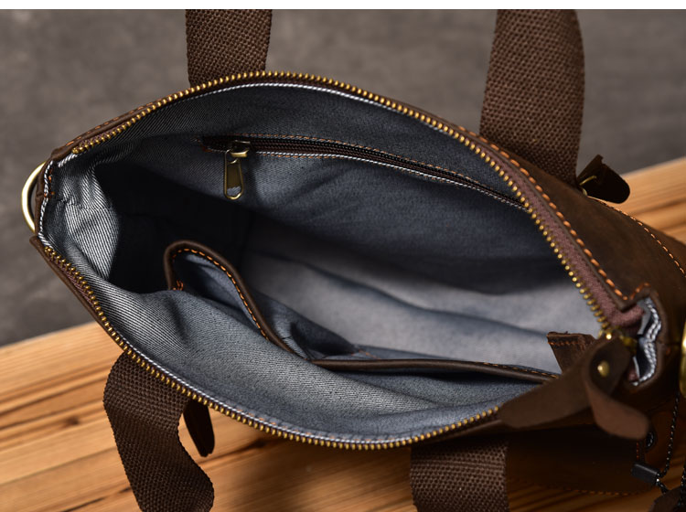 Luxury Leather Handbag inside