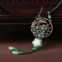 Necklace accessories long paragraph wild dress pendant chain ornaments sweater chain jade pendant female
