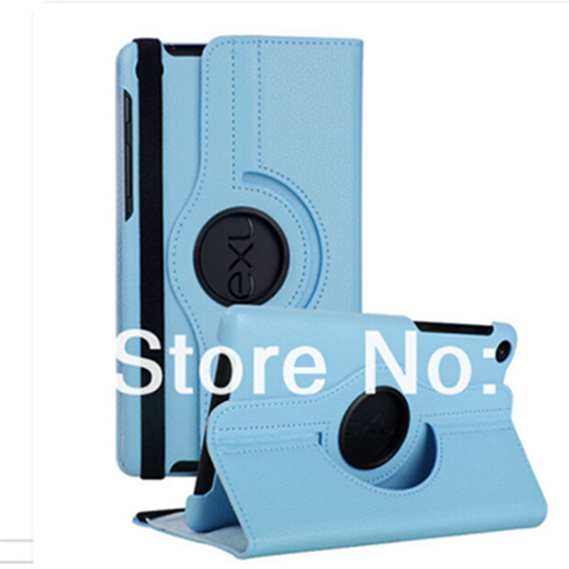 For Google Nexus 7 2nd 2013 PU Leather Case Cover 360 Rotating Stand Flip Ultra Slim Smart Tablet +screen film+stylus цена