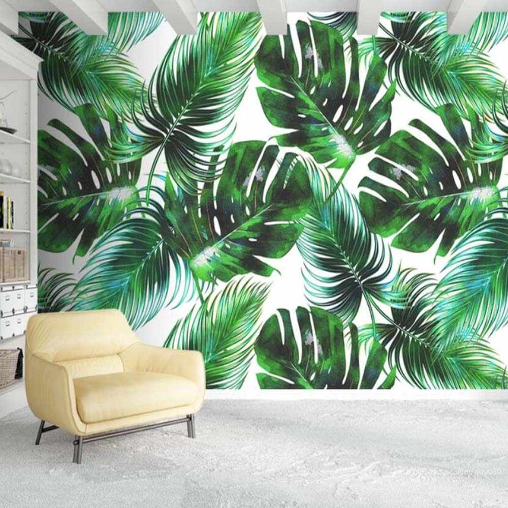 3d Tropical Leaves Wallpaper Wall Mural Decals For Living Room Bedroom Nordic Hd Printed Photo Green Leaf Wallpapers Custom Size Wallpapers Aliexpress Exotic leaves wallpapers from wallflora are designed to give an entirely new look to the walls of your room. 3d tropical leaves wallpaper wall mural decals for living room bedroom nordic hd printed photo green leaf wallpapers custom size