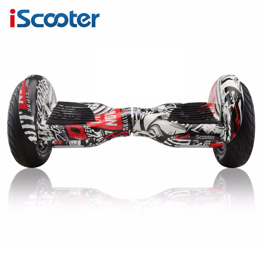 IScooter 10 pollice Elettrico Hoverboards con Altoparlante Bluetooth Borsa per il trasporto di Auto Bilanciamento del Motorino per I Bambini Adulti B10