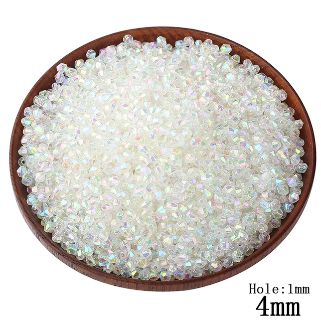 1000pcs lot 4MM Transparent Rainbow Color Small Water Beads Wholesale  European Decoration DIY Hole Beads c24957a01671