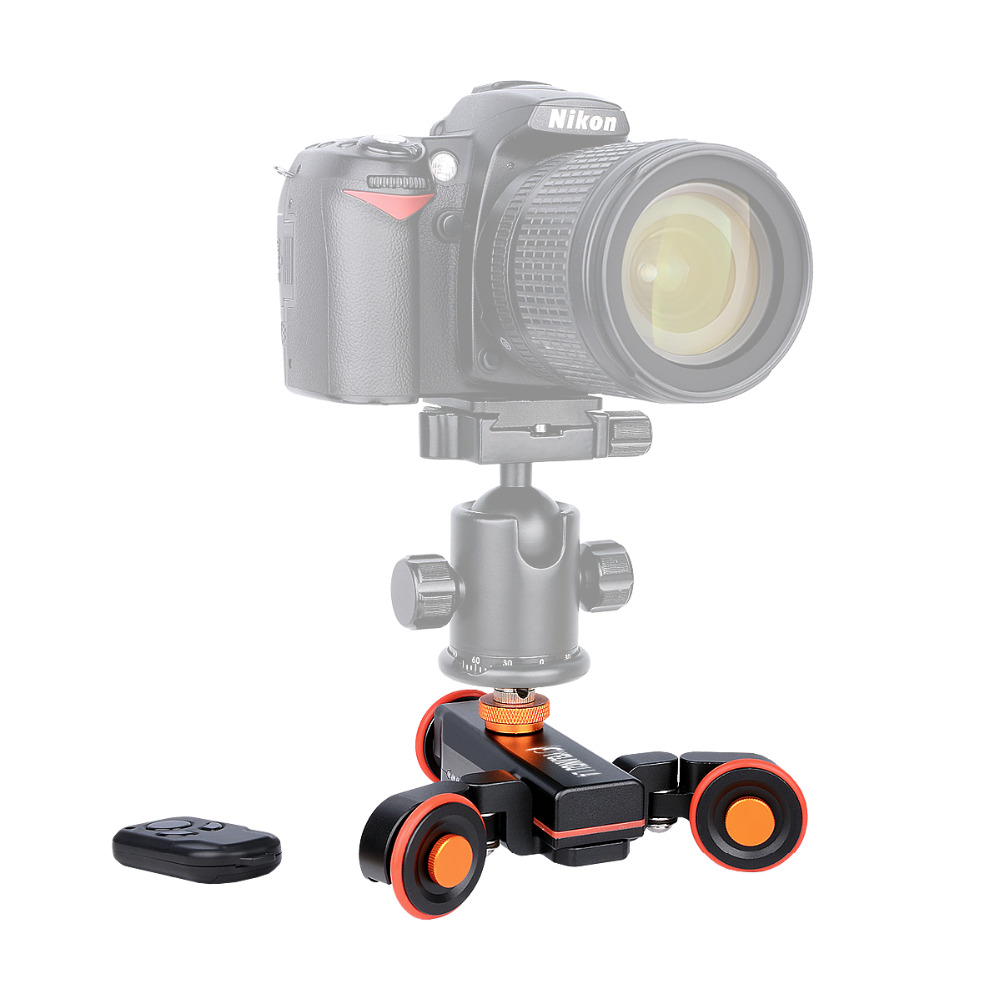 NEW Electric Autodolly Video Car Motorized DSLR Dolly Track Slider Skater With Remote Control for iPhone X/Nikon/Canon Camera цена 2017