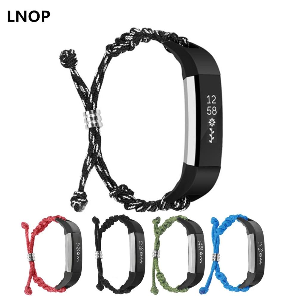 LNOP Woven Nylon strap For Fitbit Alta band Alta HR replacement band Survival Bracelet wristband watchband strap Fitbit Alta