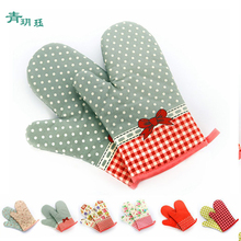 Printing Kitchen Cooking Microwave Gloves Baking BBQ Oven Gloves Oven Mitts Kitchen Dishwashing Gloves House Cleaning Tools