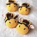 Bonito Crochet Sapatinho de Bebê Sapatos Para Crianças Meninas Infantis Sapatos Infatil Slofjes Do Bebê Crib Shoes Calçados Polo Itens 503142