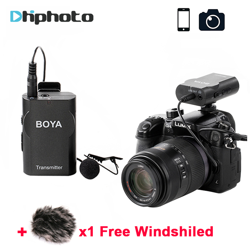 BOYA BY-WM4 Wireless Lapel Microphone System Audio Recording Interview microfone for iPhone X Canon Nikon DSLR Camera DV Mic набор инструментов jonnesway s04h524127s 127 предметов