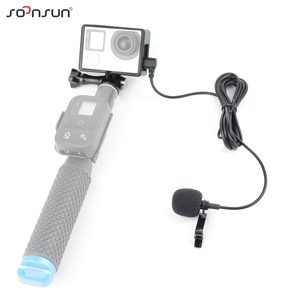 Image 4 - SOONSUN Standard Protective Frame Mount with External Microphone Mic for GoPro Hero 3 3+ 4 Hero3 Hero4 for Go Pro Accessories